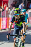 Corvara, Italy May 21, 2016; Alejandro Valverde, professional cyclist,  pass the finish line of the stage Royalty Free Stock Photo
