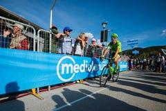 Corvara, Italy May 21, 2016; Davide Formolo, professional cyclist,  after  the finish Royalty Free Stock Image