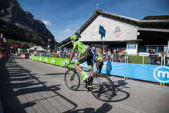 Corvara, Italy May 21, 2016; Davide Formolo, professional cyclist,  after  the finish Royalty Free Stock Photography