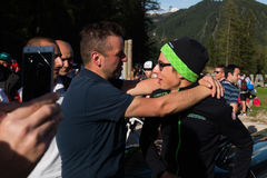 Corvara, Italy May 21, 2016; Davide Formolo, professional cyclist,  meets the fans Stock Images