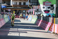 Corvara, Italy May 21, 2016; Davide Formolo, professional cyclist,  pass the finish line of the queen stage Royalty Free Stock Image