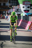 Corvara, Italy May 21, 2016; Davide Formolo, professional cyclist,  pass the finish line of the queen stage Royalty Free Stock Photography