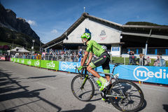 Corvara, Italy May 21, 2016; Moreno Moser, professional cyclist,  after  the finish of the stage Stock Photos
