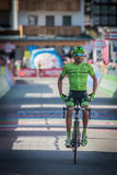 Corvara, Italy May 21, 2016; Moreno Moser, professional cyclist,  pass the finish line of the stage Stock Images