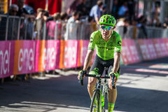 Corvara, Italy May 21, 2016; Rigoberto Uran, professional cyclist,  pass the finish line of the stage Stock Photo