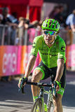 Corvara, Italy May 21, 2016; Rigoberto Uran, professional cyclist,  pass the finish line of the stage Royalty Free Stock Photography