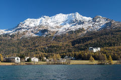 Corvatsch Mountain in St. Moritz Royalty Free Stock Photography