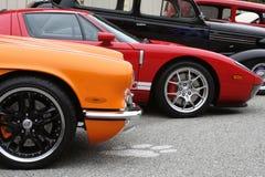 Corveta/Ford Front Ends Imagem de Stock Royalty Free