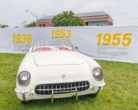 Corveta 1953 no cruzeiro do sonho de Woodward Imagem de Stock