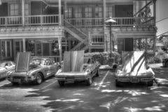 Corvetas em preto e branco Fotos de Stock Royalty Free