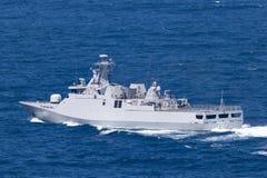 Corvetta della classe di SIGMA di KRI Iskandar Muda 367 che appartiene alla marina nazionale indonesiana dell'esercito in Sydney  fotografia stock libera da diritti