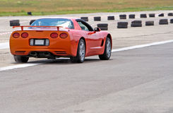 Corvette. Burnout royalty free stock photography