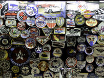 Corvette badges and patches. All sorts of different Corvette badges and signs Royalty Free Stock Image