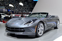Corvette C7 Convertible at the Geneva Motorshow Stock Photo