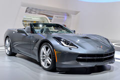 Corvette C7 Convertible. Pictured at the Geneva motor show in 2014, Switzerland Stock Photo