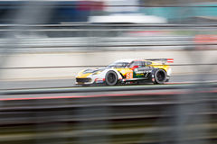 Corvette C7. Larbre Competition Corvette C7 competes at the WEC 6 hours of Silverstone 2015 royalty free stock photography