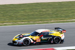 Corvette C7. Larbre Competition Corvette C7 competes at the WEC 6 hours of Silverstone 2015 stock image
