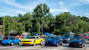 Corvette, Challenger, Mustangs, Dream Cruise Royalty Free Stock Images