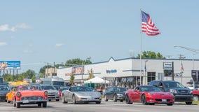 Corvette e Thunderbird, crociera di sogno di Woodward Fotografia Stock