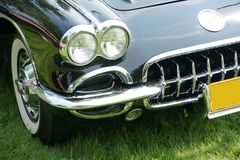 Corvette Front End. Closeup of the 1959 Chevrolet Corvette front end Royalty Free Stock Photography