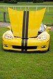 Corvette jaune Photo libre de droits