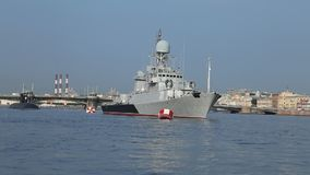 Corvette `Kazanets` of the Russian Navy stock footage