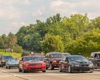 Corvette, mustang et Grand prix, croisière de rêve de Woodward Photographie stock libre de droits