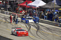 Corvette passes Ford Can-Am in pit stop Stock Photo