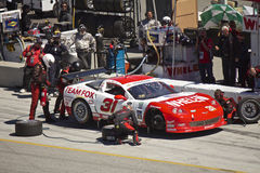 Corvette in pit stop at Grand AM Rolex Races Royalty Free Stock Photos
