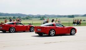 corvette race Royaltyfri Fotografi