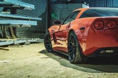 Corvette rouge photos libres de droits