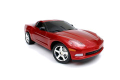 Corvette rouge miniature Images libres de droits