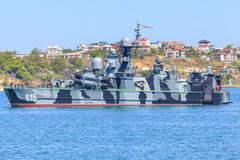 Corvette of Russian Navy Black Sea Fleet. Bora corvette of Russian Navy Black Sea Fleet prepares for a Victory Day parade in Sevastopol, Crimea. Photo taken on Royalty Free Stock Images