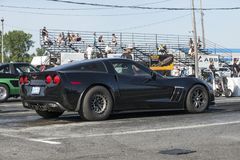Corvette at the starting line Royalty Free Stock Photo