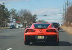 Corvette Stingray C7 on the street. Editorial photo. - Image stock photography