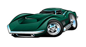 Classic American Sports Car Cartoon Illustration Royalty Free Stock Image