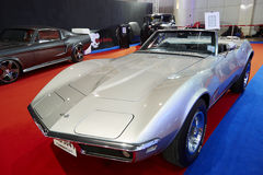 Corvette Stingray Convertible car on display at The 36 th Bangko Royalty Free Stock Photo