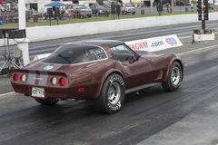 Corvette on the track Stock Photography