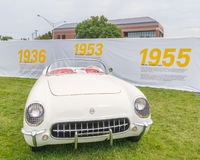 1953 Corvette at the Woodward Dream Cruise Stock Image