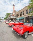 Corvettes, Birmingham Theatre (Palladium), Woodward Dream Cruise Stock Photos