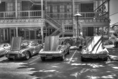 Corvettes in Black and White Royalty Free Stock Photos