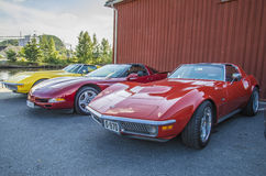 Corvettes on the pier Stock Images