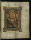 Corvey Gospel fragment, Initial Page Luke's Gospel, Walters Art Museum Ms. W.751, fol. 2r Royalty Free Stock Photography