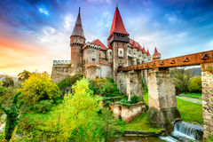Corvin城堡-胡内多阿拉,特兰西瓦尼亚,罗马尼亚 库存照片