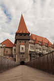 Corvin Castle bridge, Hunedoara, Romania Royalty Free Stock Image