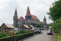 Corvin Castle (Corvinesti or Hunyadi Castle) Stock Images