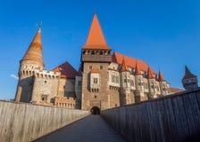 Corvin Castle a Gothic-Renaissance castle, Romania stock photography