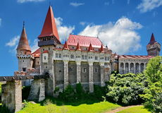 Hunedoara Romania. Gothic Corvin Castle in Hunedoara, Romania Stock Images