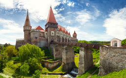 Corvin Castle in Hunedoara, Romania Royalty Free Stock Images