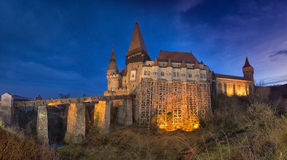 Corvin Castle from Hunedoara, Romania Stock Photography